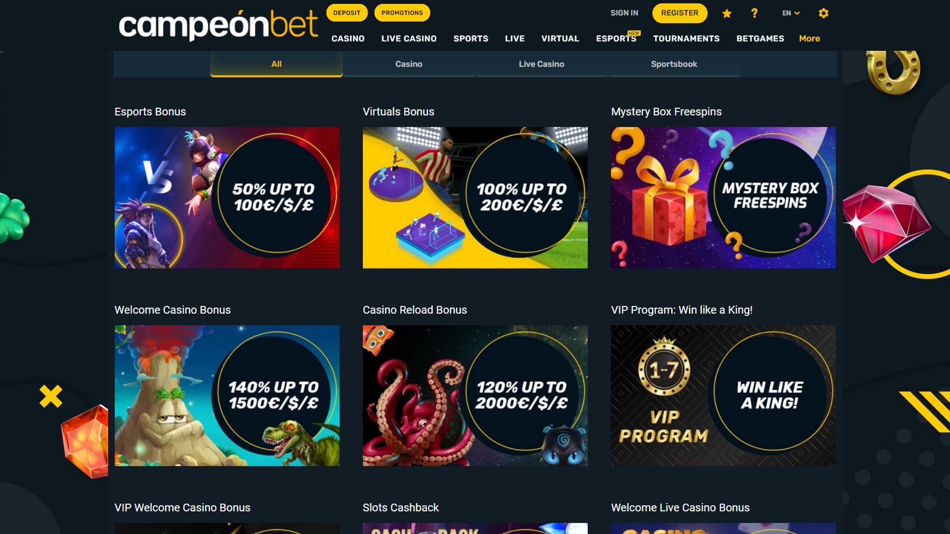 Campeonbet Casino Bonus Codes 2021